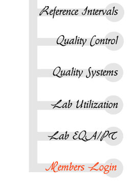 reference intervals, laboratory quality control